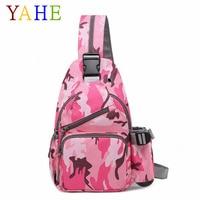 YaHe Women Chest Bags Sling Printing Camouflage Crossbody Over Shoulder Bag Men Fashion Sports Messenger Pack for Man Boys Girls