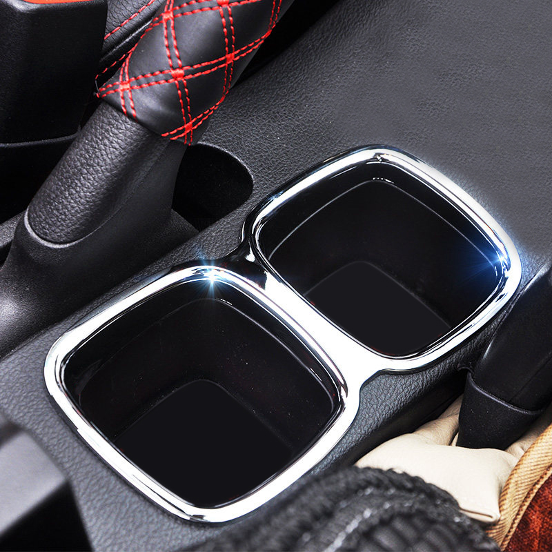 High-quality 14-18 for Suzuki S-Cross Sx4 2014 2015 2016 2017 2018 ABS Glossy Accessories Interior Water Holder Cup Decoration T