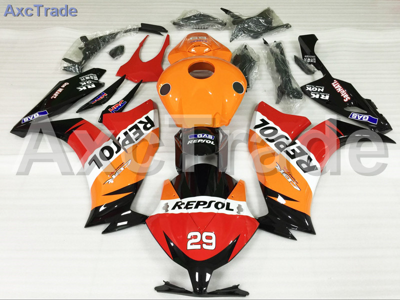 Motorcycle Fairings For Honda CBR1000RR CBR1000 CBR 1000 2012 2013 2014 12 13 14 ABS Plastic Injection Fairing Kit Yellow Red for honda cbr600rr 2007 2008 2009 2010 2011 2012 motorbike seat cover cbr 600 rr motorcycle red fairing rear sear cowl cover
