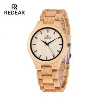REDEAR Maple Wooden Quartz Watch Season Gift Design for Anniversary Edition Series of Wooden Watches Man Clock