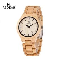 REDEAR Diseño de regalo de temporada de reloj de cuarzo de madera de pino para la edición de aniversario Serie de relojes de madera OEM de arce envío gratis