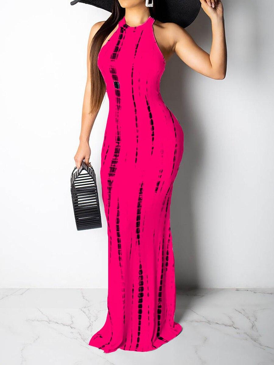 Sexy  new printed strapless beach dress for women Long summer Dress casual High Waist vestidos de mujer sexy