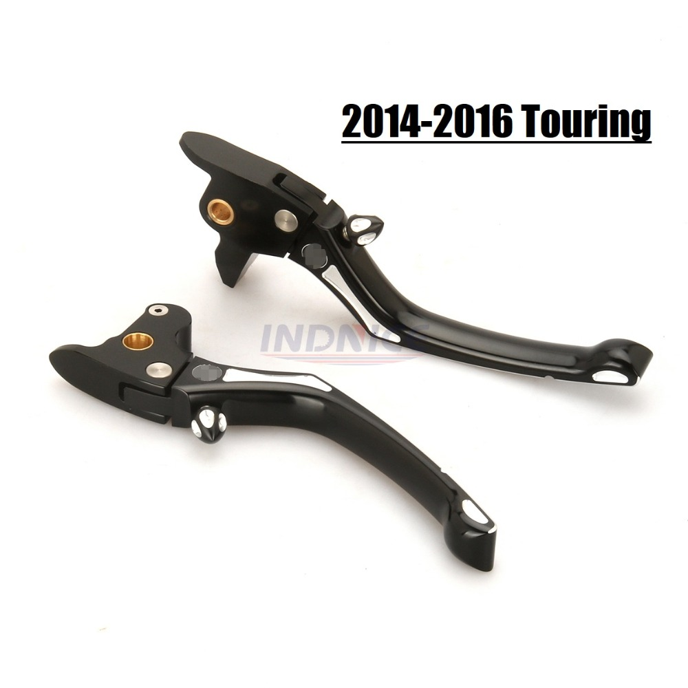 Black Brake Lever Regulator Clutch lever For 2014-2016 street glide FLHT FLHX FLTR brake clutch lever 14-16 harley touring