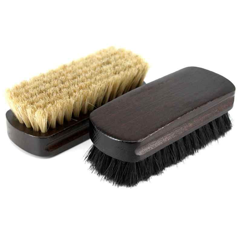 Boot Brush Cleaner Shine Shoe Pig Bristles Brush With Wood Handle Household Cleaning Tools & Accessories Cleaning Brushes