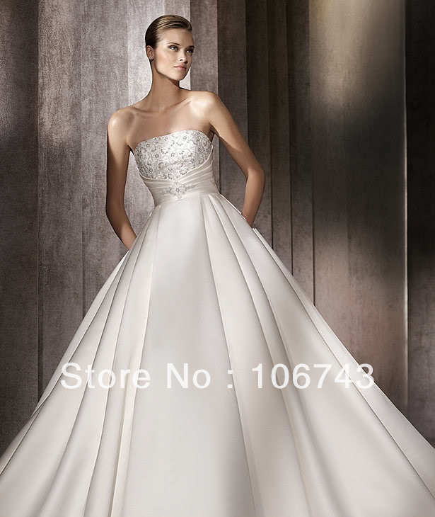 free shipping 2018 new style hot sale Sexy bridal gown sweet princess Custom embroidery crystal Shot Train   bridesmaid     dresses