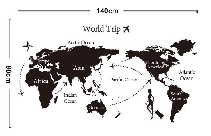 Aliexpress Buy Free shipping Travel World Map removable – Travel Map Of The World