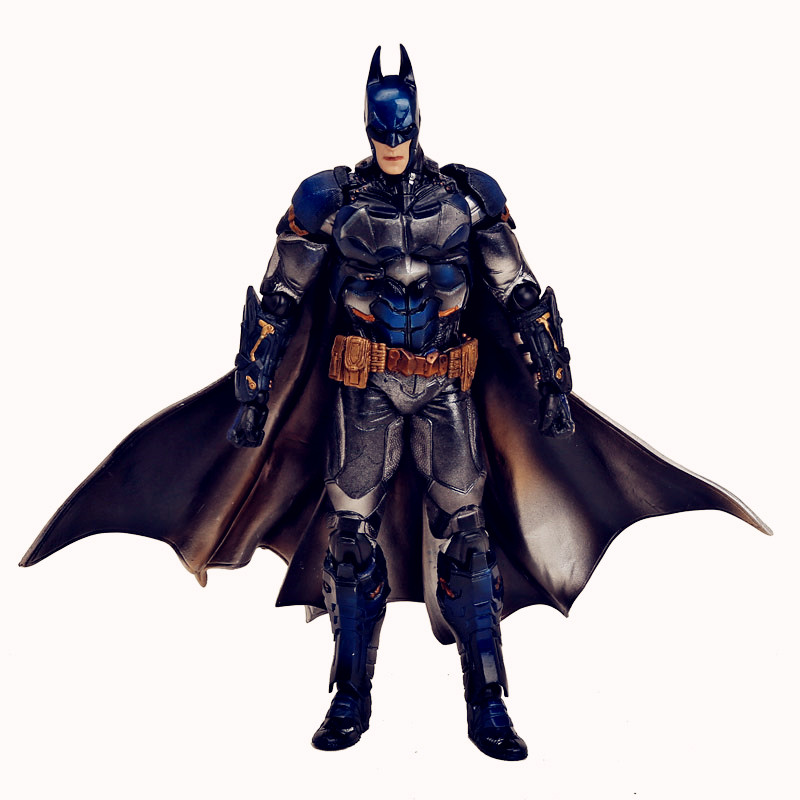 Playarts KAI Batman Arkham Knight Batman Blue Limited Ver. PVC Action Figure Collectible Toy 28cm Retail Box WU445 playarts kai batman arkham knight batman blue limited ver brinquedos pvc action figure collectible model doll kids toys 28cm