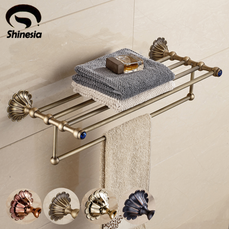Brief Design Solid Brass Bathroom Towel Rack Towel Shelf Bathroom Accessory Wall Mounted fashion crystal folding bag purse handbag hook hanger holder handbag hanger alloy hook clothes hook g1s002bl
