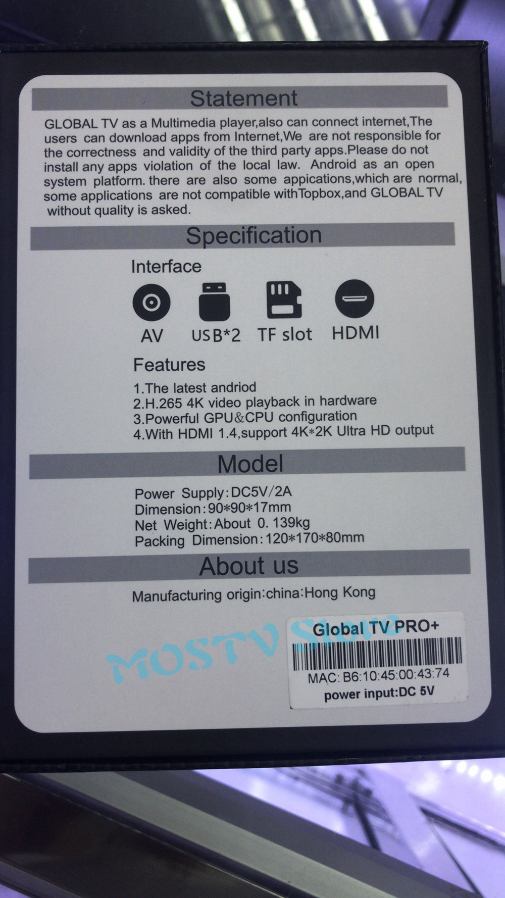 US $135 69 |global TV BOX Android Smart globalTV Box 1GB 16GB WiFi IPTV Set  top box Hong Kong Japan Korea Singapore Malaysia India live-in Set-top