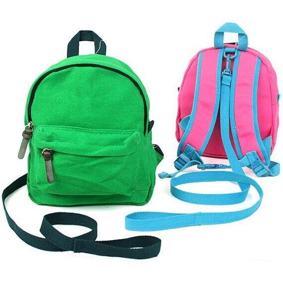 036245383d Toddler Backpack Baby Boy Girl Brand School Backpacks Safe Strap mochilas school  kids Canvas Bag mochila infantil School Bags
