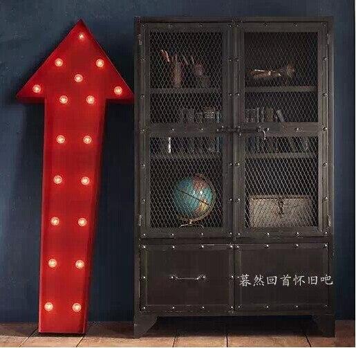 amerikaanse stijl dorp loft industriële smeedijzeren boekenkast tv ...