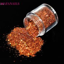 1 Box 10grams Holographic Nail Flakes Sequins Hologram Mixed Thin Colorful Glitter Powder FMA01-12