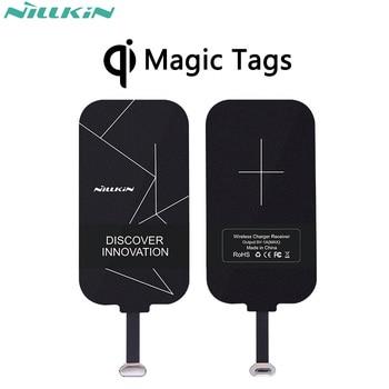 Nillkin Magic Tags QI Wireless Charging Receiver Micro USB / Type C Adapter For iPhone 5S SE 6 6S 7 Plus Mi5 Mi5s Plus Mate 9