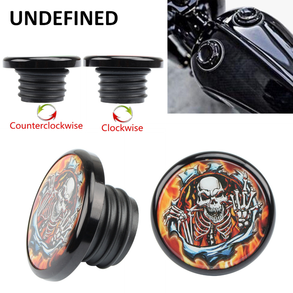 Pop-Up Gas Fuel Tank Cap For Harley Sportster XL883 XL1200 48 72 1996-2016 USA