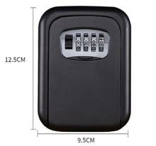 קיר רכוב מפתח אחסון ארגונית קופסות עם 4 ספרות שילוב מנעול חילוף מפתחות ארגונית קופסות מתכת סוד כספת