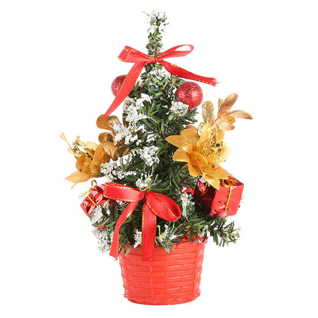 artificial tabletop mini christmas tree decorations festival miniature tree 20cm christmas decorations christmas decorations for