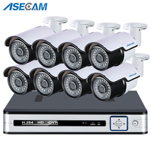 New HD 5MP CCTV System 8CH 48V PoE H.265 NVR Kit Outdoor Security IP Camera Waterproof P2P Motion detection XMEYE APP 2016 sale 8ch onvif full hd 48v real poe 80 100m nvr kits with 720p ip cameras p2p cloud service outdoor waterproof ip camera