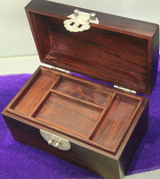 Finest jewelry storage box with inner tray and lock Authentic Lobular Red Sandalwood of indian wedding decor worthy gift