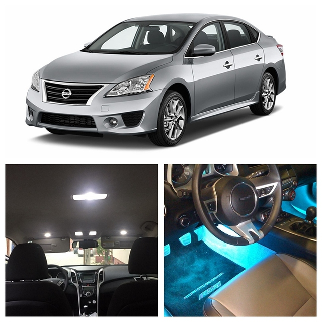 8pcs White Ice Blue Led Light Bulbs For 2007 2014 Nissan Sentra