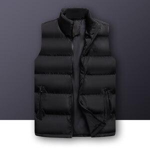 Image 1 - Wordless แขนกุดเสื้อกั๊กเสื้อแจ็คเก็ต Outwear บุรุษผ้าฝ้ายเสื้อกั๊ก Coat Thicken Waistcoat ชายฤดูหนาวเสื้อกั๊กผู้ชาย GILET Homme 6XL