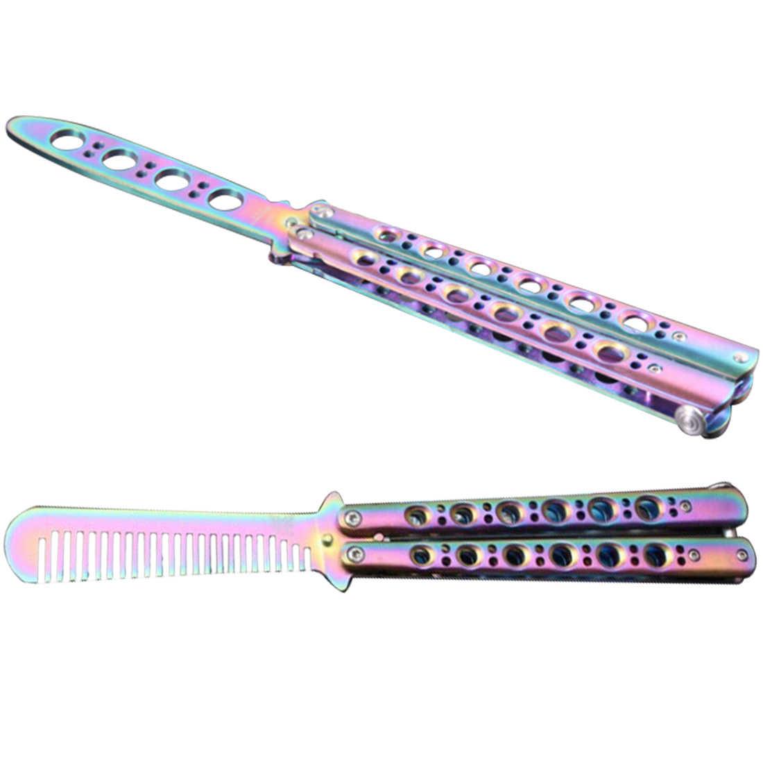 Складной тренировочный не Практичный Нож балисон C42 цвет практичный карамбит тренировочный титановый нож из нержавеющей стали