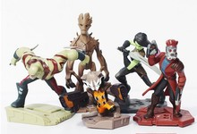 5pcs/set New Movie Guardians of the Galaxy Action Figures Star-Lord Groot Rocket Raccoon Gamora Collection Figure 6-10CM