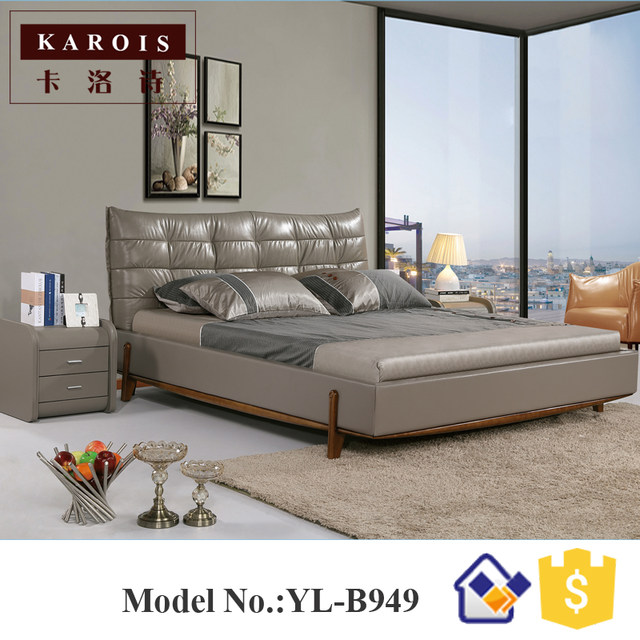 China Made Bedroom Furniture Bed, Chiniot Furniture Bed Sets 1.8M/1.5M Wood  Bedroom Furniture
