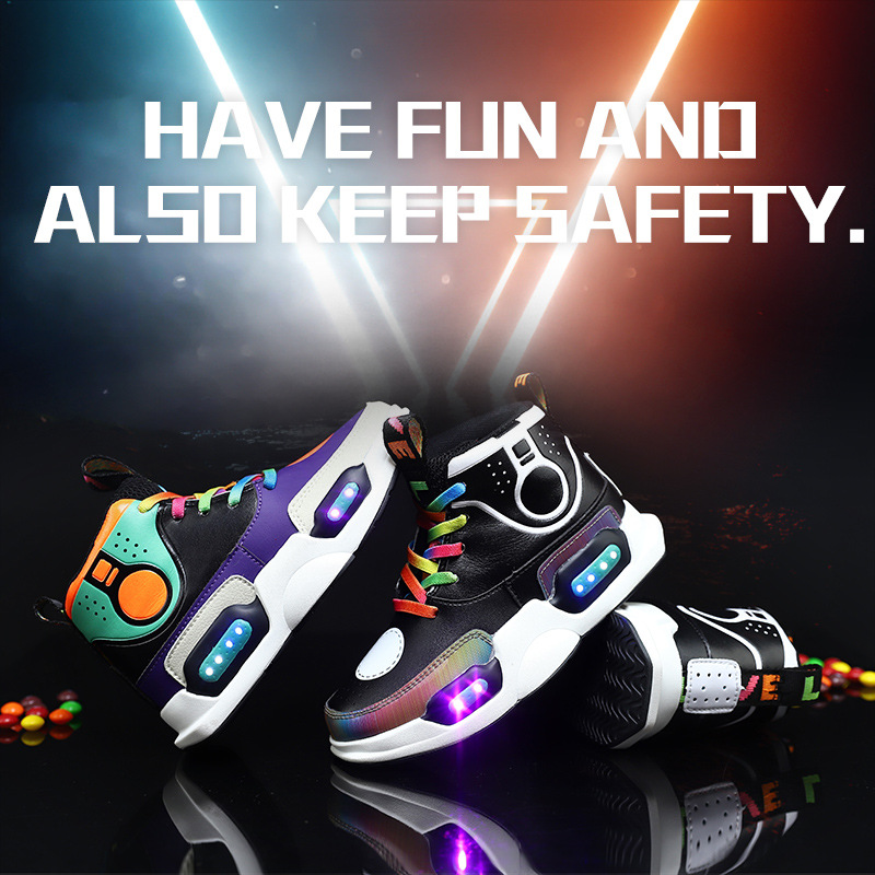 цена на Men Women Children USB Charger Led Light Shoes Unisex Casual Sports for Kids & Adult Fashion Boys & Girls Sneakers Lace Up Shoe