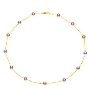 Image 5 - YS naszyjnik z pereł 18k czystego złota kobiety dziewczyna prezent na rocznicę naturalny naszyjnik z pereł naszyjnik towary wysokiej jakości biżuteria