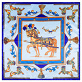 60*60 cm bufanda de seda Grande con los modelos de caballos para señoras del envío del mantón de las bufandas para las mujeres pañuelo bufanda de lujo A006