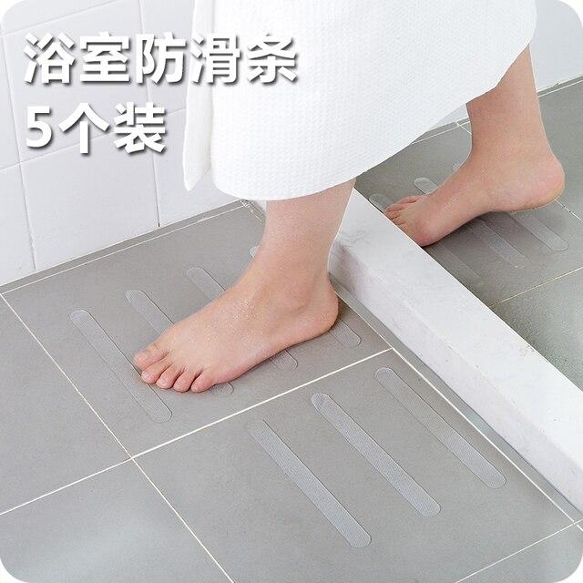 5pcs Set Bathroom Bathtub Transpa Non Slip Stickers Stairs Tape
