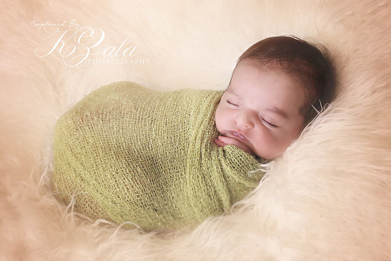 Knit Newborn Wrap Photography Props