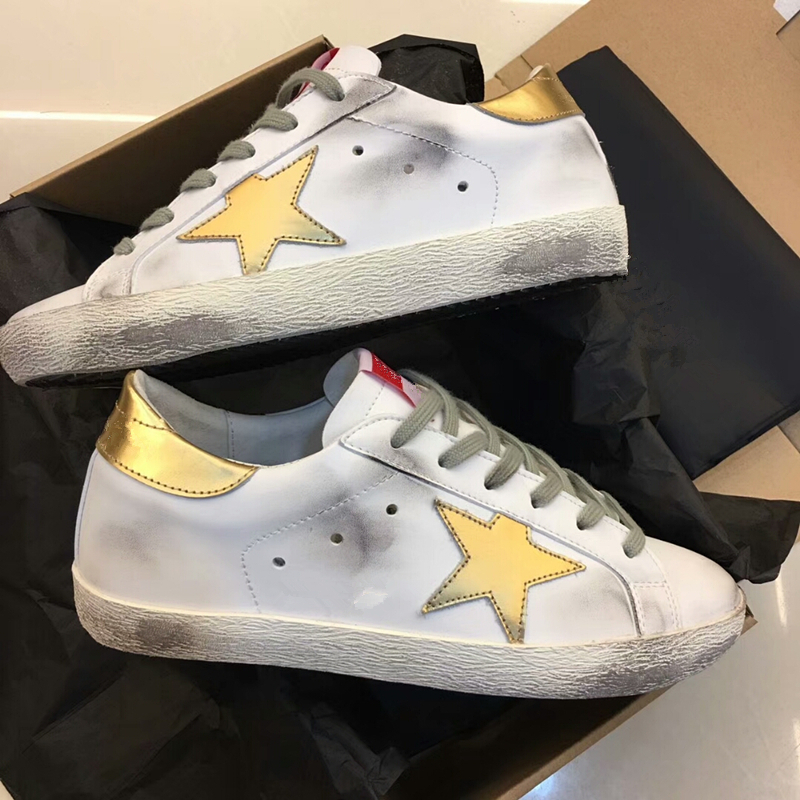 Yellow Star Sneaker Casual Shoe Round Toe Worn Out Distressed Leather Lace Up Vintage Do Old Dirty Shoes Women Tenis Feminino 40 woman burst leather casual shoes golden star women do old dirty shoes female lace up distressed leather vintage flat shoes