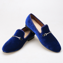 casual shoes fashion High-end custom Buckle Men Velvet shoes Smoking Slipper Loafers Men Flats shoe sapato masculino
