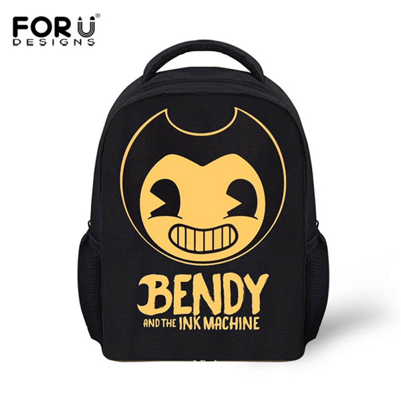 FORUDESIGNS Bendy And The Ink Machine Children School Backpacks Boys Casual School Bagpack Bags Kindergarten Baby School Bags children school bag minecraft cartoon backpack pupils printing school bags hot game backpacks for boys and girls mochila escolar