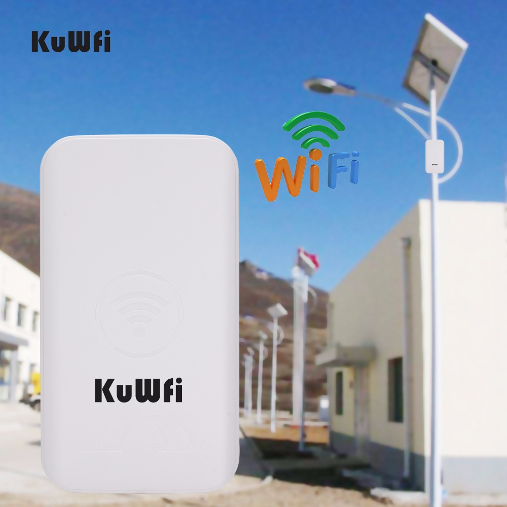 Image 2 - KuWFi 300Mbps 2PCS 1 3KM Outdoor CPE Router 5G Wireless Access Point Router Wifi Bridge Wi fi Extender CPE Router With 24V POE-in Wireless Routers from Computer & Office