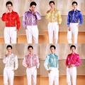 Branco / vermelho / rosa / amarelo / rosa quente / Roral azul / céu azul / lilás camisa Custom Made homens de seda do casamento do noivo / noivo / homem camiseta CS23