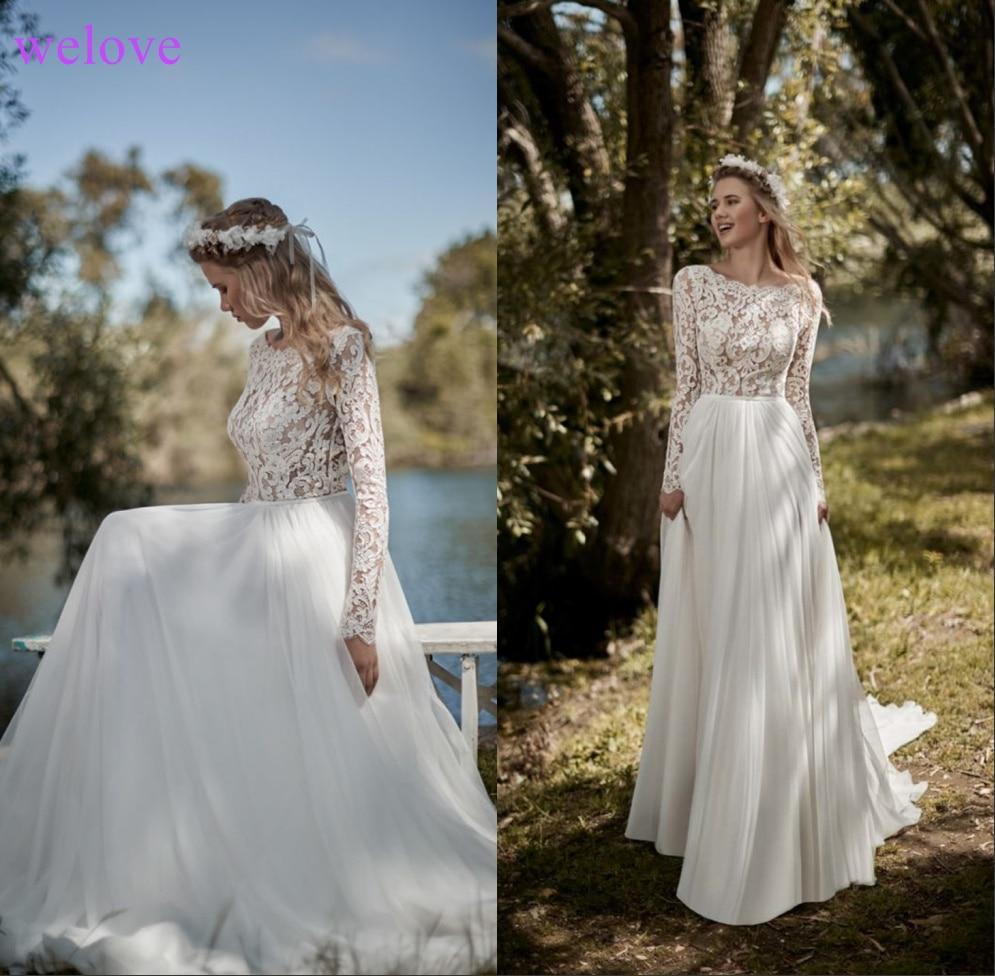 Robe de mariee New arrival wedding dresses 2019 Sexy backless A line wedding dress 2019 bride dress Tull vestidos de noiva