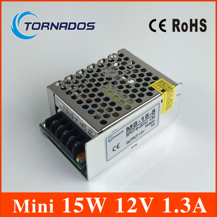 Single Output mini size Switching power supply MS-15-12 15W 12V 1.3A ac dc converter MINI led driver
