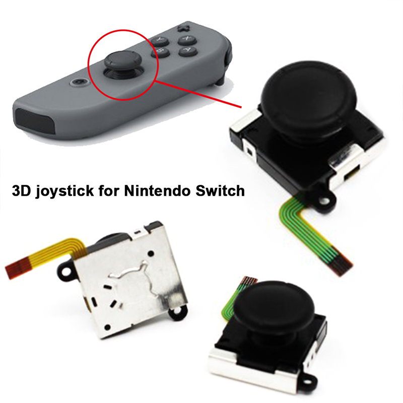 Analog Joystick 3D Rocker 3D Joystick Tool Kit Consoles Rocker Gaming Repair Parts for Joy-Con Controller for Nintendo Switch