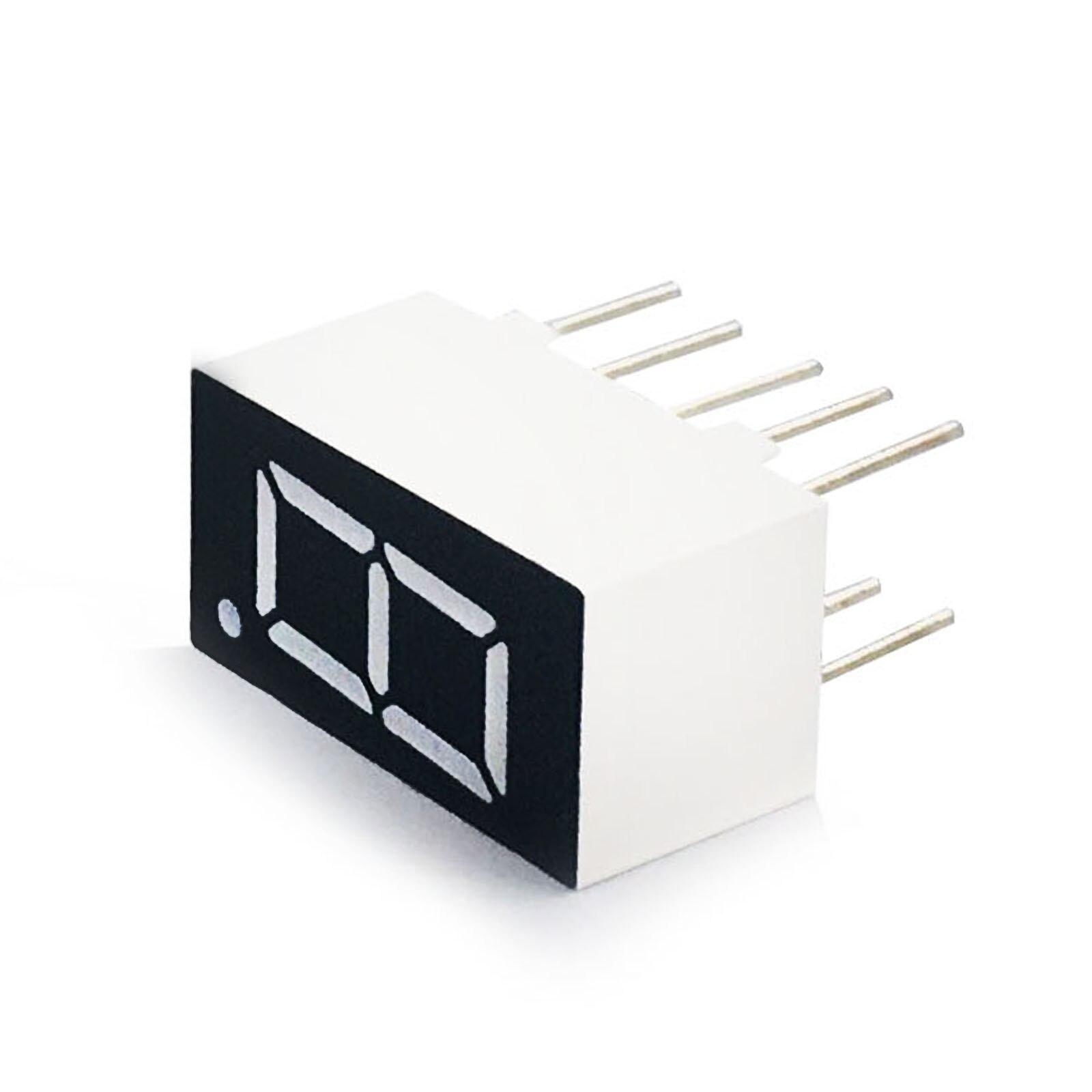 MCIGICM 100pcs 7 Segment Common Cathode 1 Bit Digital Tube 0.36
