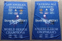 Los Angeles Dodgers World Series Champions Cờ 3ft x 5ft Polyester MLB Banner Bay Kích No.4 4 144*96 cm QingQing C