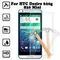 Para htc desire 620 620g/820 mini 5.0 pulgadas de pantalla protector de la cubierta de vidrio templado para htc desire 620g dual sim caso