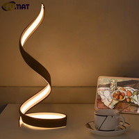 FUMAT Table Lamps Nordic Bedroom Bedside Light Simple Modern White LED Table Lamp Art Decor Light Living Room Study Desk Lamp