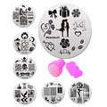 Nail Stamper Plate Set 10Pcs Nails Art Image Plates and 1pcs Stamper Scraper Manicure Templates Nails Stencils Tool