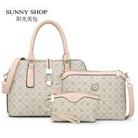SUNNY SHOP3 Bag/Set New Mother Handbag Brand Designer Women Bag Letter Striped Fashion Femal Bags Shoulder Bags Gift For Mother