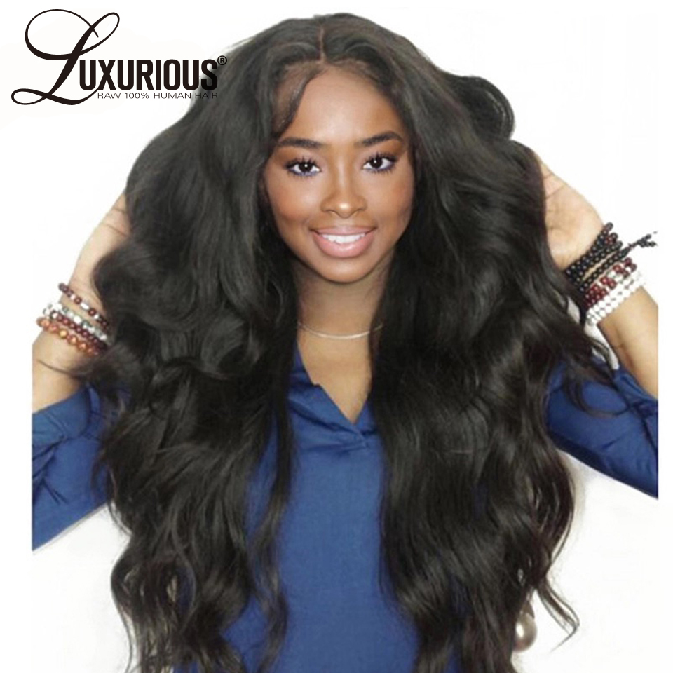 180 Density Body Wave Lace Front Human Hair Wigs With Baby Hair 8 26 Brazilian Remy