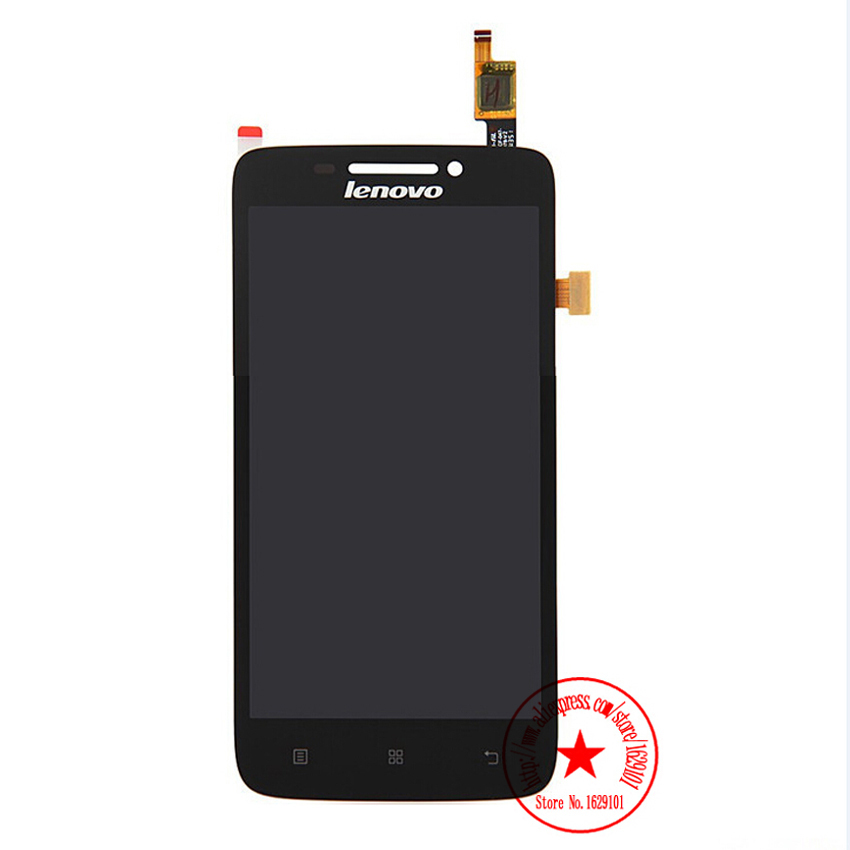Wholesale High Quality Black Touch Screen Digitizer + LCD Display Full Assembly For Lenovo S650 Replacement Parts Free Shipping high quality 5 3 for lenovo s898 s898t lcd display touch screen digitizer assembly replacement tools free shipping