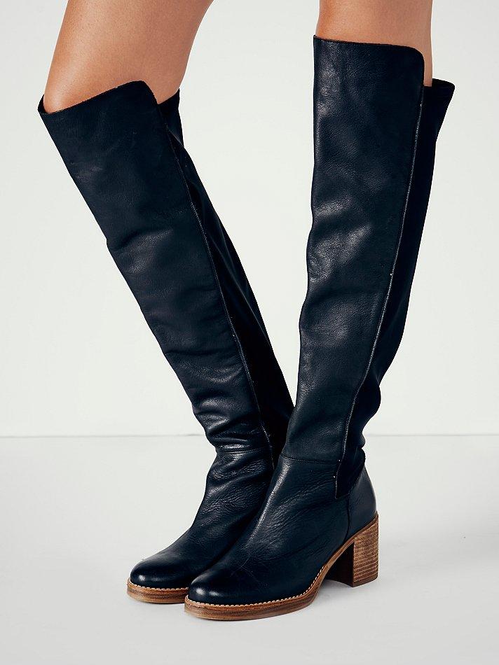 Dames Mode De D'hiver Bottes Femmes Hautes Patchwork Talons Med Moto Vintage D'équitation Chaussures Bout Rond H6vxwE7H