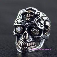 Импорт Таиланд, Череп крови большой золотой зубы кольца черепа